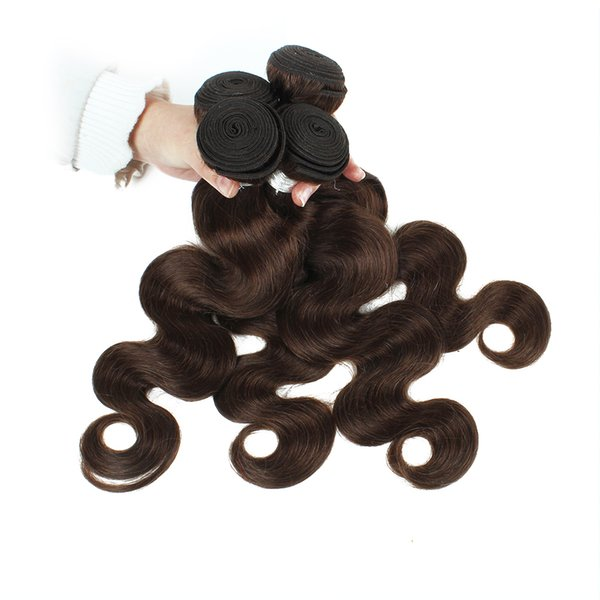 Brazilian Body Wave 4 Bundles Natural Color 2 Dark Brown Quality Remy Human Hair Extension Unprocessed Virgin Brazilian Hair Body Wave