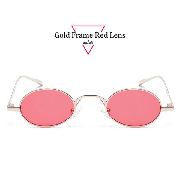 Gold Frame Red Lens