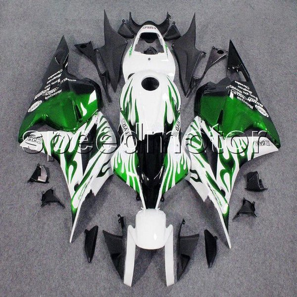 colors+Gifts Injection mold green flames motorcycle Fairing for HONDA 2009 2010 2011 2012 CBR600RR 09-12 CBR600 F5 ABS plastic kit