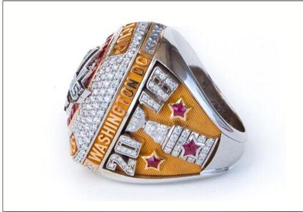 Date 2018 Washington Capitals Coupe Stanley Championnat Du Monde Anneaux MVP Ovechkin personnalisé anneau de hockey sur glace High quanlity souvenirs cadeaux