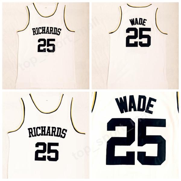 2018 Richards 25 Dwyane Wade High School Jerseys Men All Stitched Basketball Dwyane Wade Jersey Breathable Sports Uniforms High Quality