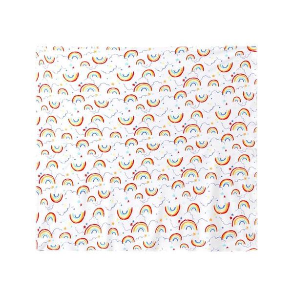 Bebê recém-nascido cobertor infantil Swaddle Wrap Toalhas de banho da criança Rainbow impressão de algodão macio dormir Swaddling Warp Stroller Cover