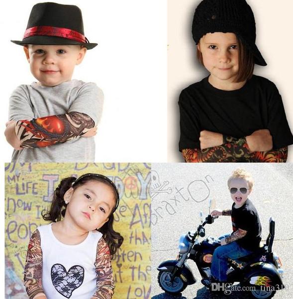 Nouveau style Multi Cheap ChildrenTattoo Sleeves Simulation Manches Bras De Tatouage Manches De Tatouage Body Art Sleevelet 2178