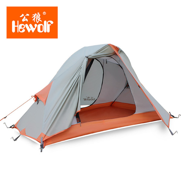 New Professional Brand Outdoor Tent Single Ultraweight Anti rain Snow Windproof Cycling Camping Tent 210*138/82*110cm