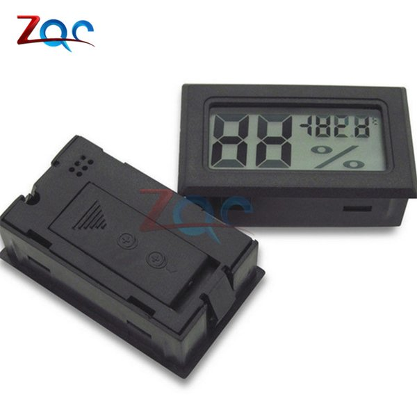 Preto Mini LCD Digital Termômetro Higrômetro Temperatura Interior Conveniente Sensor de Temperatura Medidor de Medidor de Umidade Instrumentos