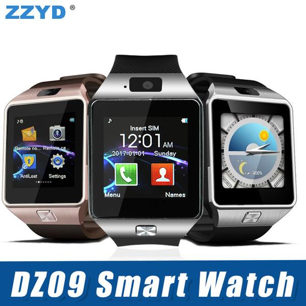 Dz09 bluetooth smart watch wirstband andróide smartwatch smart card sim para iphone 5 6 samsung s8 com pacote de varejo