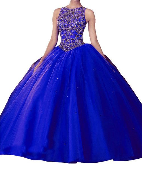 Sexy blue collar, small round collar, vest, back strap, skirt, multi nets, trailing mattresses, handmade custom mailing.Quinceanera Dresses