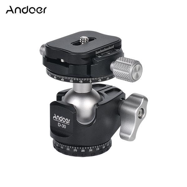 Andoer D-30 двойная панорамная головка с ЧПУ обработки шаровая головка двойной U вырез низкий центр тяжести для штатива монопод DSLR ILDC