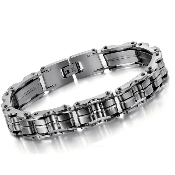 316L Stainless Steel Bracelet JEWELRY STAINLESS STEEL BRACELET Men Silver color 23CM Men gift 629