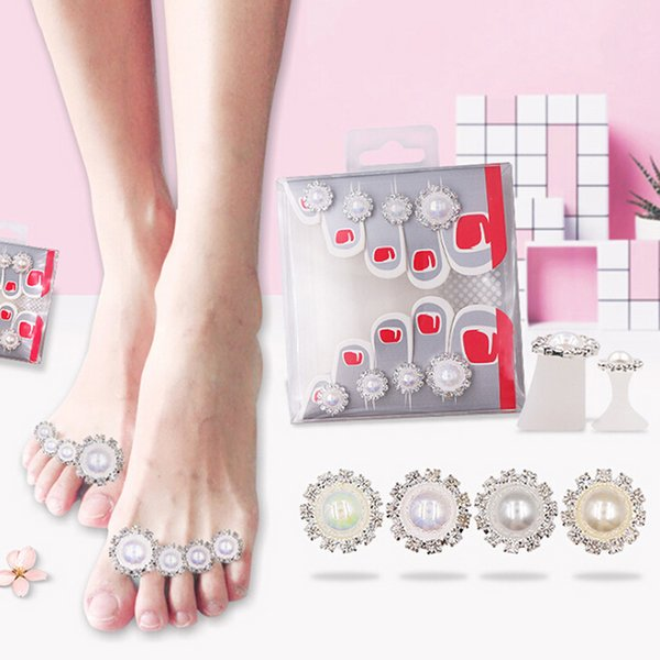 Silicon Nail Art Tools Toe Separator Foot Pads For Home And Salon ...
