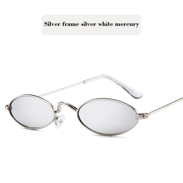 Silver frame silver white mercury