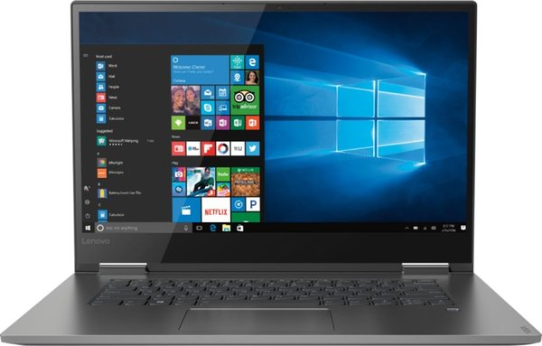 """Lenovo - Yoga 730 2-in-1 15.6"""" Touch-Screen Laptop - Intel Core i7 8GB Memory 256GB Solid State Drive 360 flip-and-fold"""