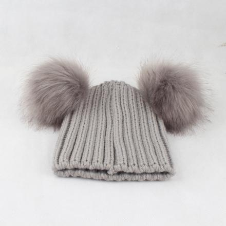 gray hat gray fur one free size