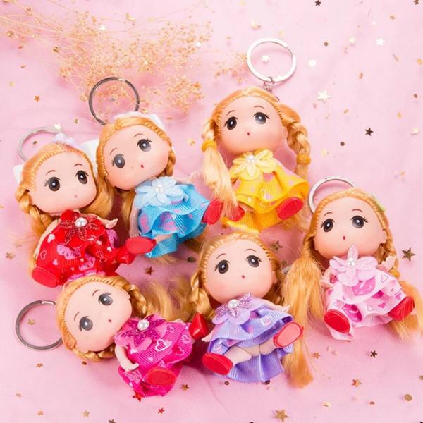 Keychain hängendes Festivalgeschenkgeschenkkind spielt die nette Butike, die kreativen Großhandel der verwirrten Puppenpuppen-kleinen Prinzessin kleidet