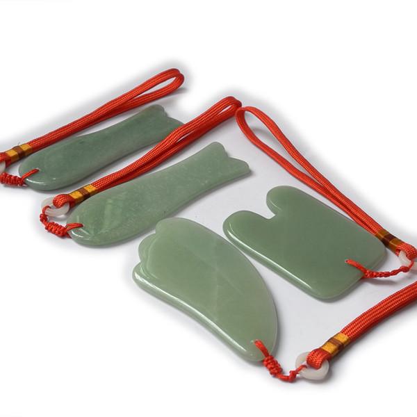 TONTIN NUEVO Acupuntura Masaje Guasha Tool SPA Kit de belleza Natural Aventurine 4 pcs / set Modelo 1