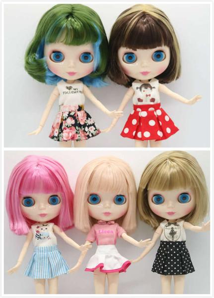 Обнаженная Блит кукла совместное тело синие волосы Мода кукла фабрика подходит для DIY 180731