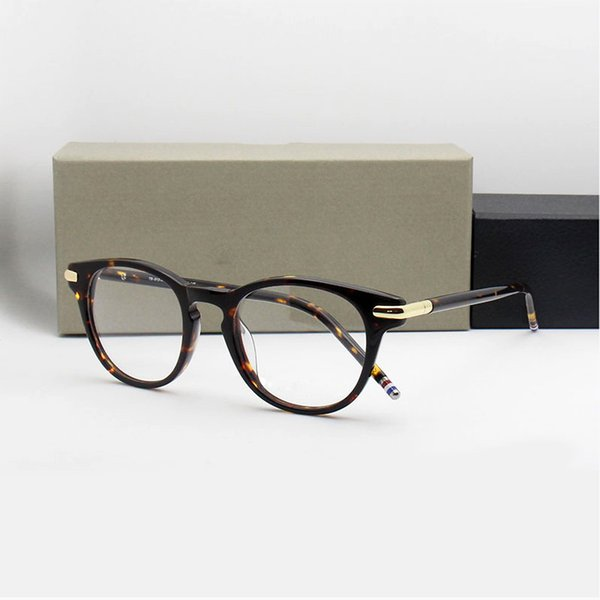 f4f984222b4 Acetate Glasses Frame Men Oliver Women Round Prescription Spectacles Vintage  People Johnny Depp Full Optical Eyeglasses Eyewear