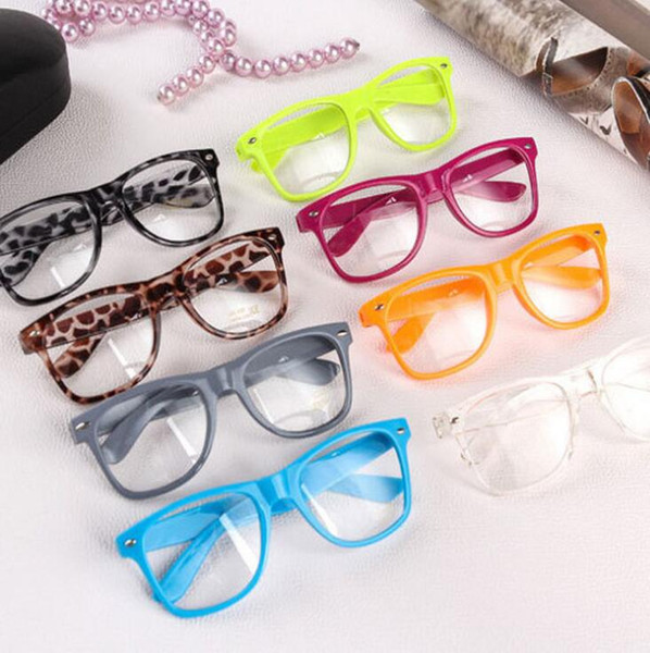 best selling Hot Sunglasses Unisex sunglasses Rivet Sunglasses Retro Color Unisex Punk Geek Style Clear Lens Glasses Eyewear KKA3945