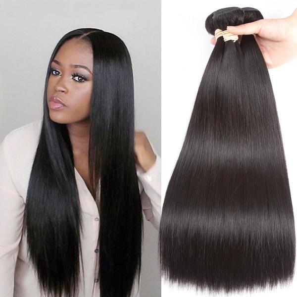 Peruvian Straight Hair Weave 100% Human Hair Bundles Natural Color 8-24 Inch Peruvian Hair Machine Double Weft