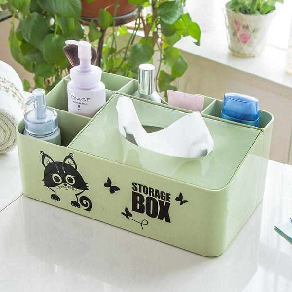 Multifunction Rectangle Square Tissue Box Pen Remote Storage desk organizer Paper Napkin Towel holder dispenser cover cases