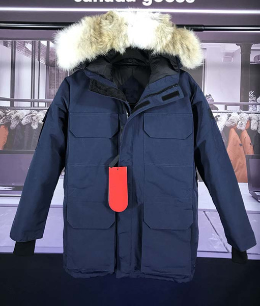 DHL Winter New Brand Canada Women's Goose Down Bomber Hooded Warm Coat Fur Windbreaker parka and wolf fur Coat.