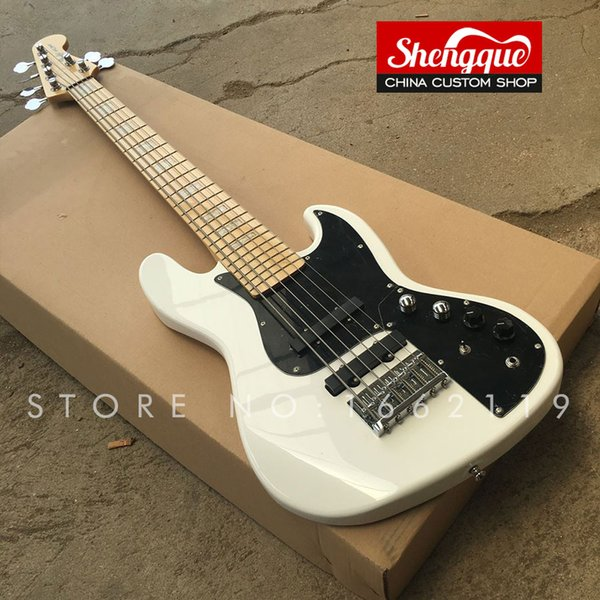 Free shipping factory custom jazz bass 6 strings electric bass guitar with maple fingerboard all color available musical instrument Shop