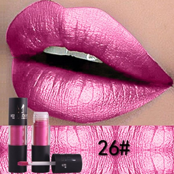 MISS ROSE Waterproof Metallic Lip Gloss Cylindrical Tube Matte Lipgloss Moisturizing Lipsticks Professional Lip Makeup Cosmetic