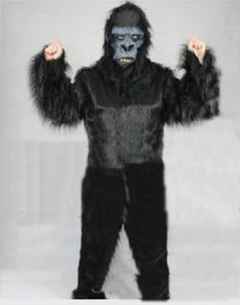 100% real images Black gorilla Mascot Costume Adult Size Cartoon Character Carnival Party Outfit Suit Fancy Dress