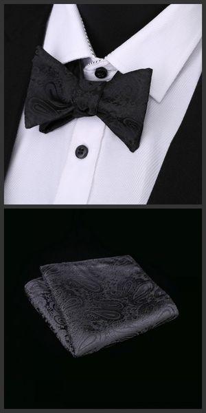Ikepeibao Yeni siyah Erkek Öz Bow Tie Kelebek Hanky Beyaz Paisley Pajaritas Lazo Noeud Papillon Ascot Papyon Hombre Takım Elbise