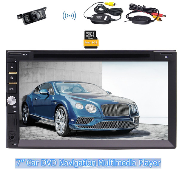 EinCar GPS Car dvd Stereo FM AM Radio GPS Navigator USD SD TFT Colored Display Panel Beautiful UI Design Remote Control Map Card+camera