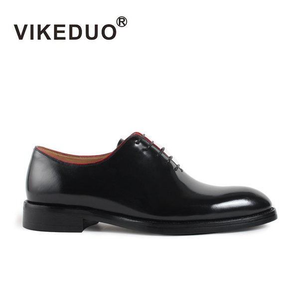 Vikeduo Handmade brand Italy fashion luxury Designer wedding Party Office dance male dress Genuine Leather mens oxford shoes