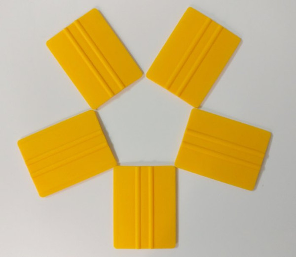 Yellow Squeegee 3D Carbon Fiber Vinyl Film Wrapping Tools Car Foil Cleaning Wiper Brush Window Wash Tools