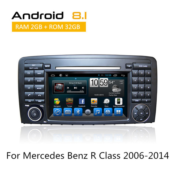 2 Din Car DVD Stereo For Mercedes Benz R Class 2006-2014 In Dash Touch Screen Auto Radio GPS Navigation