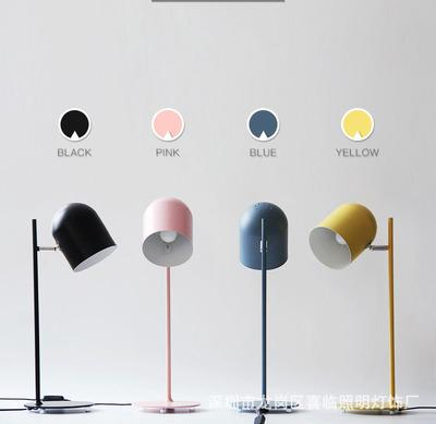 JESS new iron reading light bedside table lamp Macaron color pink black yellow blue study room desk lighting office hotel