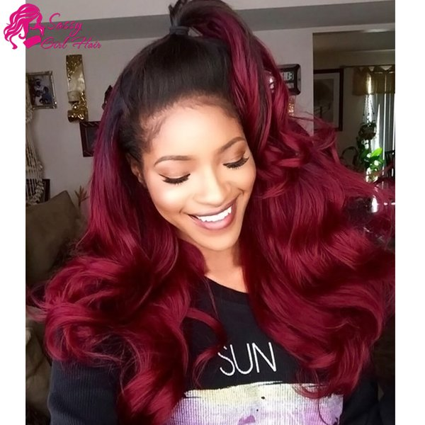 Body Wave Weave 3pc Virgin Human Hair Extensions 1B/99J# Ombre Virgin Hair Products Brazilian Peruvian Malaysian Indian Mongolian European