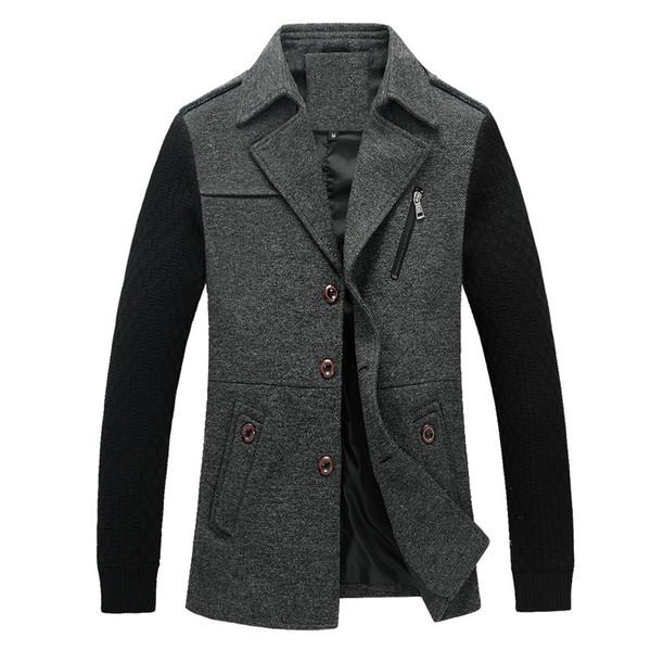 trench coat men long steampunk overcoat plus size 2018 fall winter Spot jacket casual slim cotton windbreaker dust grey black