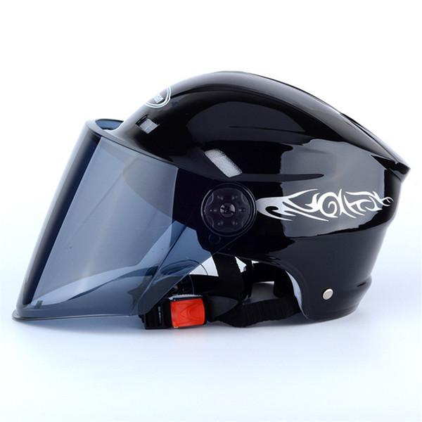 Motorrad-Sturzhelm-Marken-Thompson-Glasfiberweinlese-Motorradsturzhelm-Motorradsturzhelm mit schöner Farbe der Visierlinse