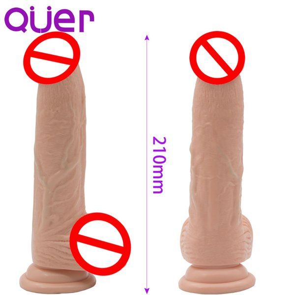 8.27 Inch Long And Big Dildos Realistic Fake Penis With Suction Cup Phallus On Suckers Sex Toys For Women