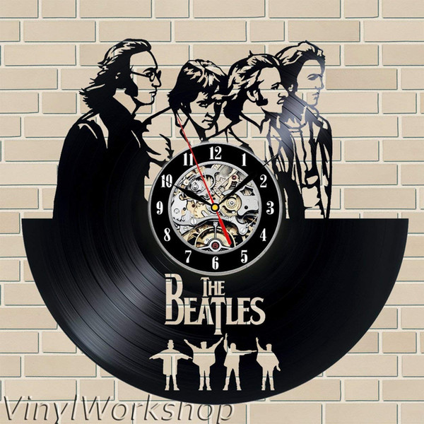 diy gift for clock The Beatles Vinyl Wall Clock Decor Modern Decorative Unique Gift To Your Friends And Family For Any Occasion