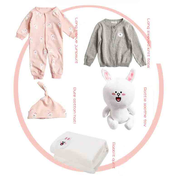 Baby girls boy spring autumn sets wear long sleeve kids Rabbit toy clothing, 1 sets, retail, R1BC506DSCS-74