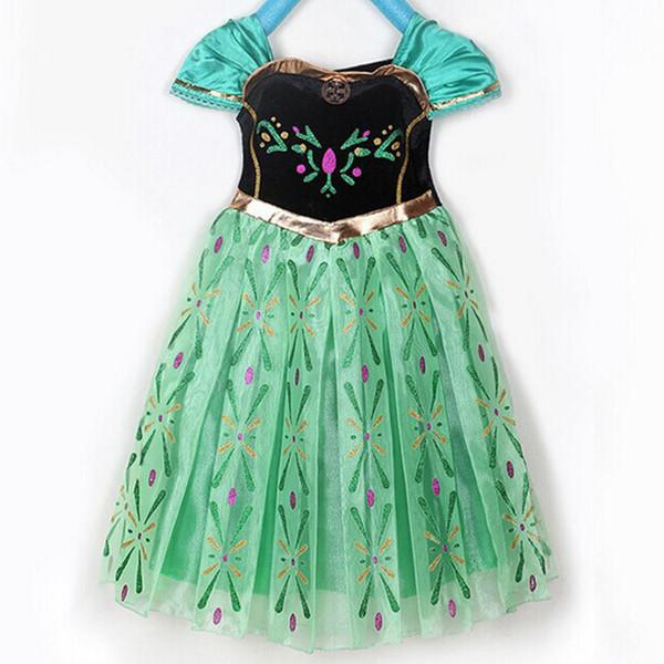 Children's wear cartoon dress print princess dress decorative children's skirt children's costumes