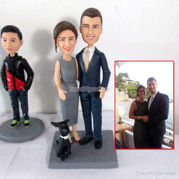 OOAK artesanal 100% bonecas de argila do polímero de suas fotos presentes originais personalizados para namorada do dia dos namorados Surpresa presente
