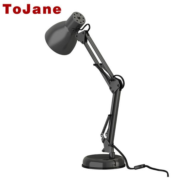 Long Swing Arm Desk Lamp Twin-Arm Clip-on Desk Lamp Flexible Table Lamp Office Led Desk Light