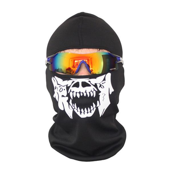 Kafatası Maskesi Bandana Bisiklet Bisiklet Bisiklet Kask Boyun Yüz Maskesi Yarım Yüz Paintball Kayak Spor Bandı Oyun Maskeleri