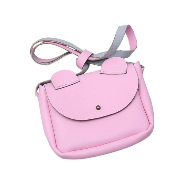 Hot Sale Crossbody Sling PU Leather Cute Cartoon Ears Kids Girls Shoulder Bag Children Small Coin Wallet Handbag