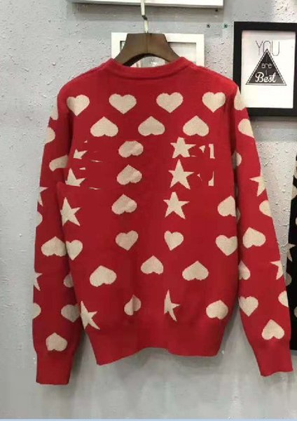 ladies fashion Women Sweater Pullover Love Five-pointed Star 2018 Autumn And Winter New Product Goods In Stock