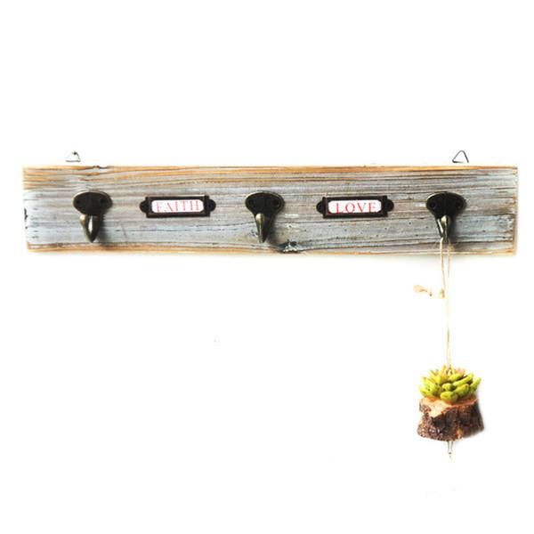 Wall Hook Wood Coat Hanger for Entrance / Bathroom Towel / Key Modern Style Home Decor Hook Rails