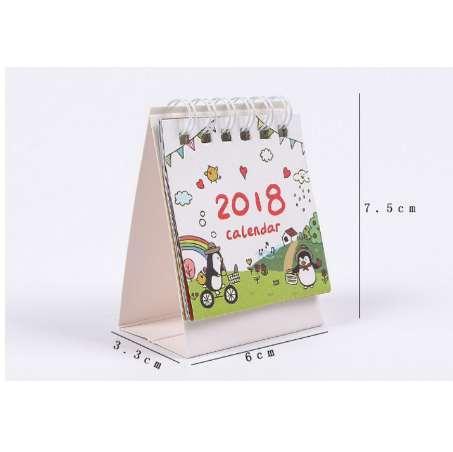 top popular 1 Set Cute 2018 Mini Desk Calendar Cartoon Organizer Schedule & To Do List Daily  Desktop Calendar desk calendario stationery 2020