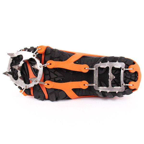 1 Pair Winter Crampons Ice Snow Climbing Anti Slip Ice Cleats Gripper Shoe Covers Chain Spike Sharp Snow Gripper Crampons 2 Size