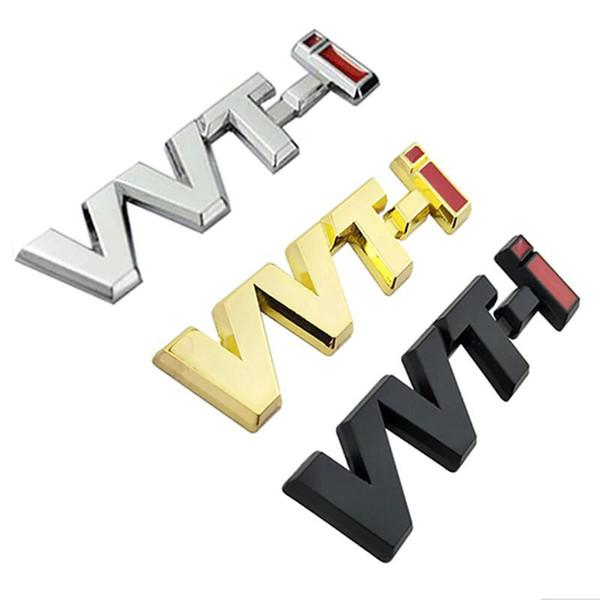 20pcs/LOT Metal Alloy VVTi Logo Chrome Silver Strip Car Fender Sticker Side Emblem Badge accessories